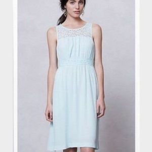 HD in Paris Anthropologie light blue dress NWT